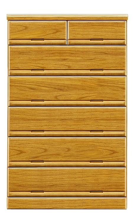 【ネット限定】ハイチェスト ガリバー90(NA):前板は天然木・桐無垢材を使用しています。