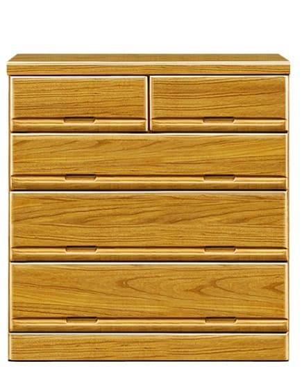 【ネット限定】ローチェスト ガリバー90(NA):前板は天然木・桐無垢材を使用しています。