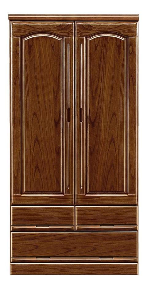 【ネット限定】洋服タンス ガリバー90(BR):前板は天然木・桐無垢材を使用しています。