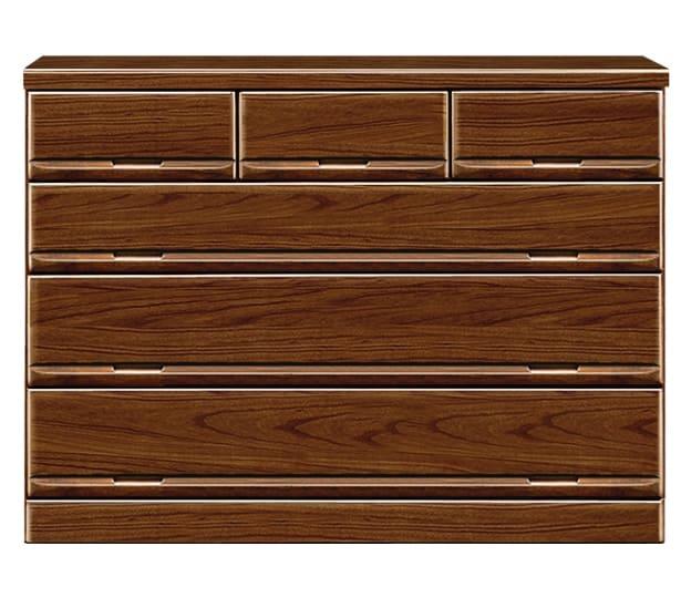【ネット限定】ローチェスト ガリバー120(BR):前板は天然木・桐無垢材を使用しています。