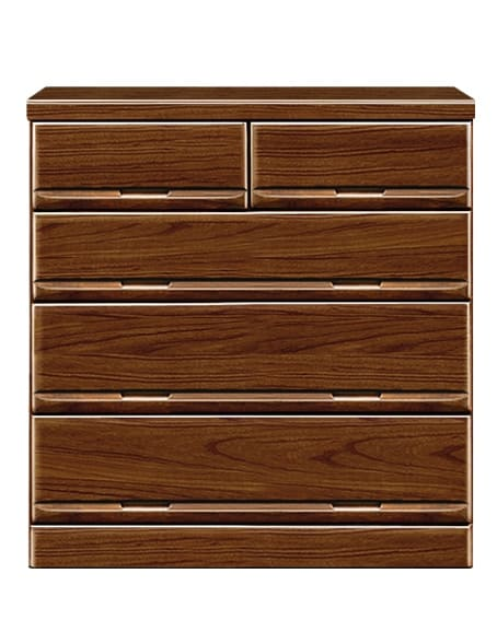 【ネット限定】ローチェスト ガリバー90(BR):前板は天然木・桐無垢材を使用しています。