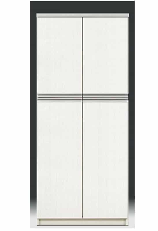 【ネット限定】シューズボックス リヨン80H(WH):下段扉内側に引出し収納付で、スライドレール付きです。