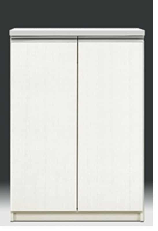 【ネット限定】シューズボックス リヨン80L(WH):下段扉内側に引出し収納付で、スライドレール付きです。