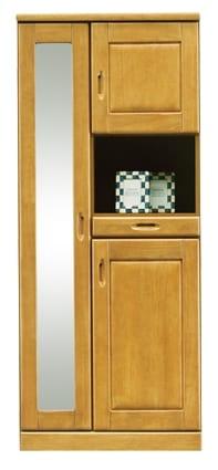 【ネット限定】シューズボックス マリー75H(NA):《前板はラバーウッド使用!!棚板は洗えるプラスチック製で、洗えて清潔です。》