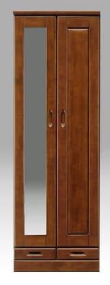 【ネット限定】シューズボックス マリー60H(BR):《前板はラバーウッド使用!!棚板は洗えるプラスチック製で、洗えて清潔です。》