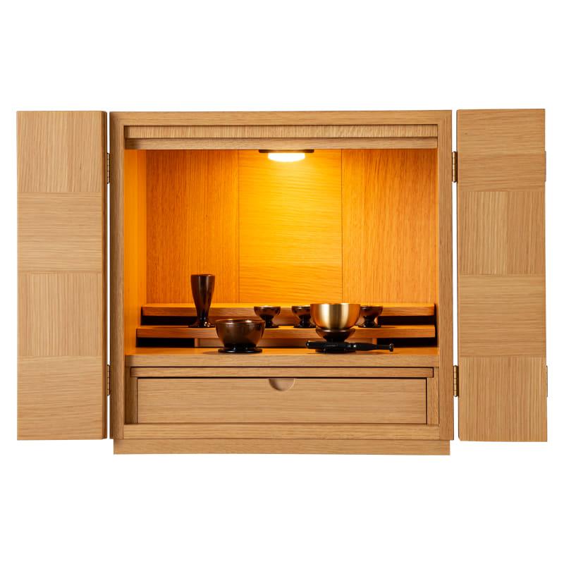 【ネット限定】インテリア仏壇 コリンズ 15号 NA:◆シンプルなデザインの国産モダン仏壇