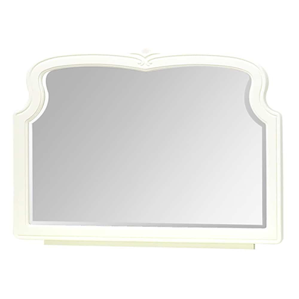 【ネット限定】ミラー ブランミラー(専用取付パネル付):エレガントで落ち着いた雰囲気を醸し出すオフホワイトカラー
