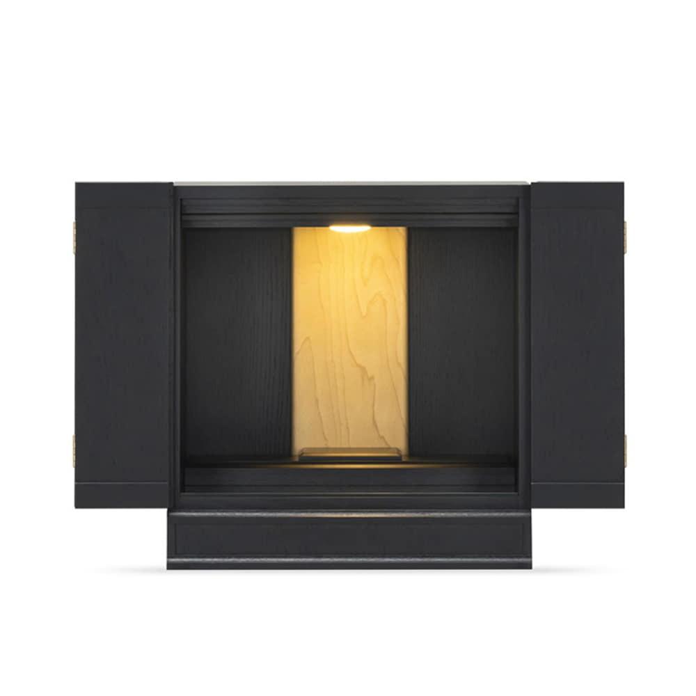 【ネット限定】インテリア仏壇SN−03 ブラック:仏壇をいまの暮らしに寄り添ったものに