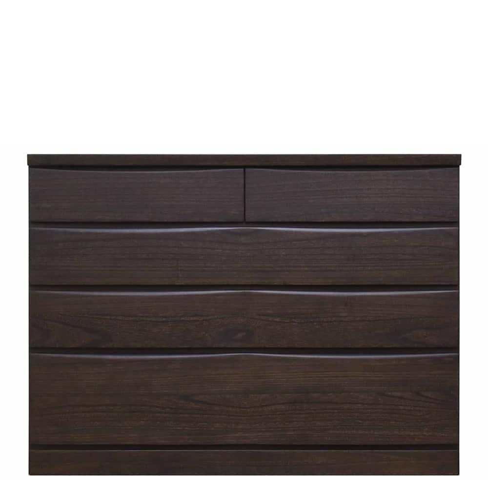 ローチェスト ベレッサ 119−4段 ダーク:衣服が上の段の抽斗に引っかからない、地板が奥まである総地板仕様。