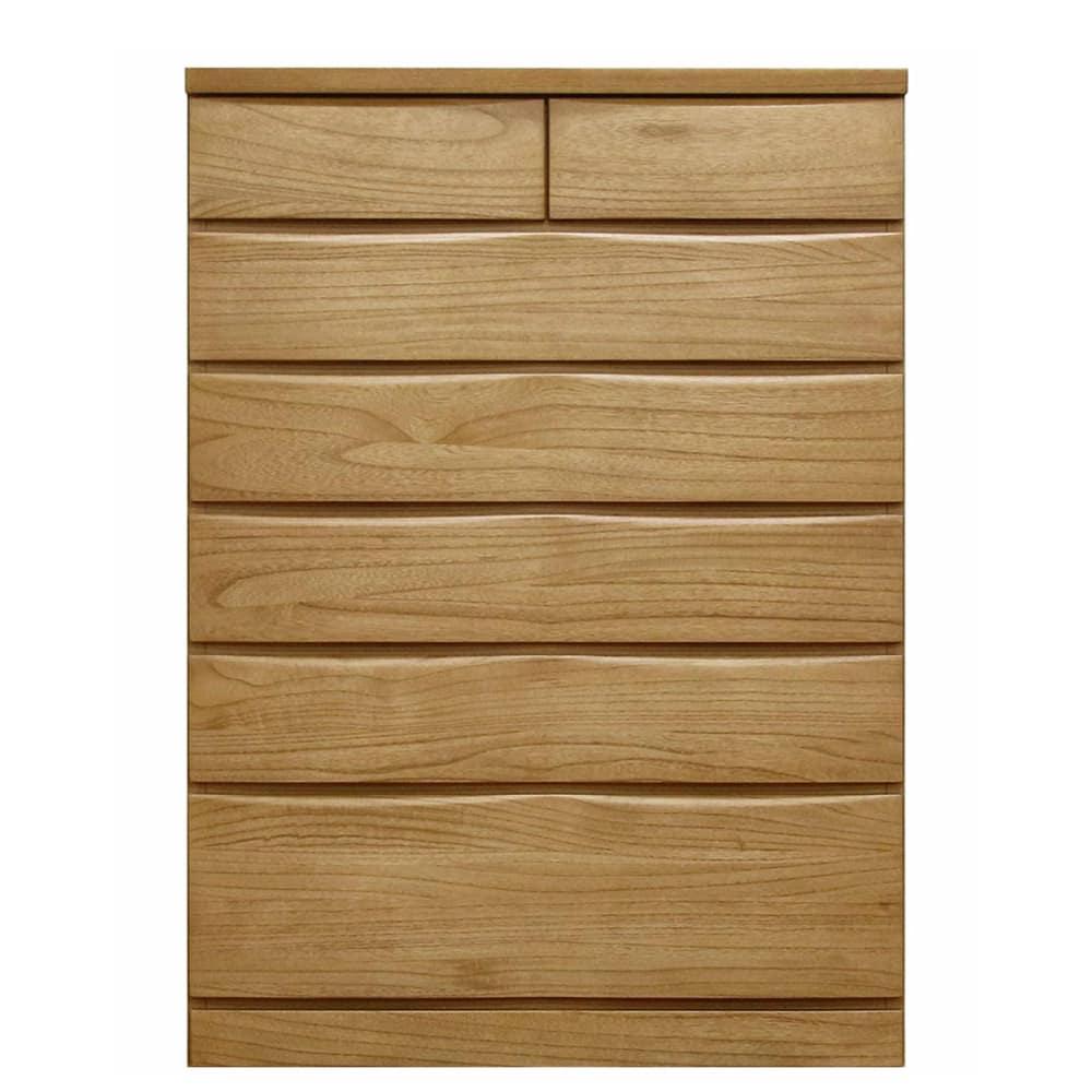 ハイチェスト ベレッサ 89−6段 ナチュラル:衣服が上の段の抽斗に引っかからない、地板が奥まである総地板仕様。