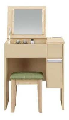 フラップデスクドレッサー ソルティ 65 NA:《鏡をしまえるので、お部屋をスッキリ見せるドレッサー》