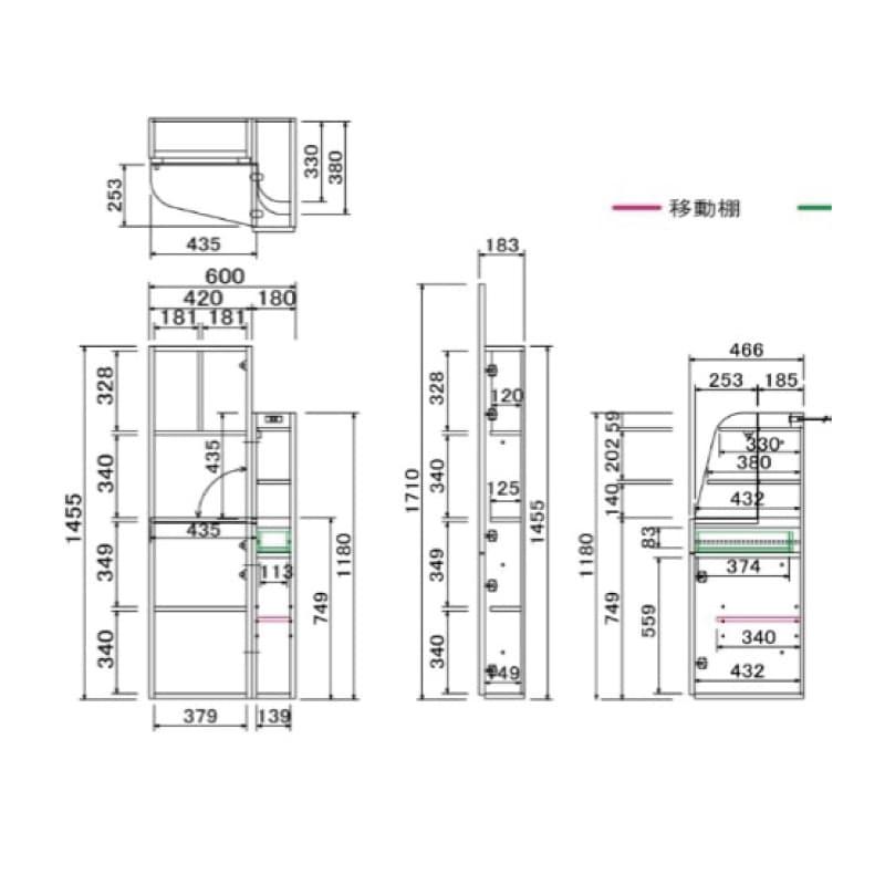 姿見ドレッサー ケース�U60