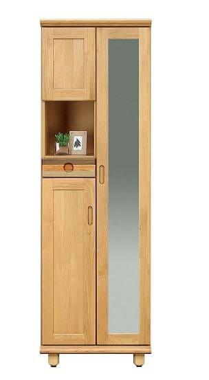 シューズボックス パステル20H:木目の表情を活かしたシックなデザイン