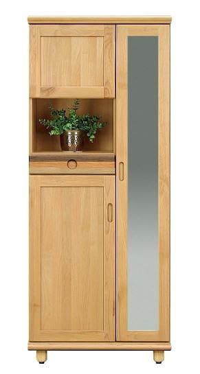 シューズボックス パステル25H:木目の表情を活かしたシックなデザイン