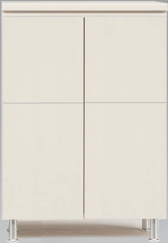 シューズボックス 幅73cm ロータイプ ホワイト:《シンプルスタイルのレッグ付シューズBOX》※小物類はイメージです
