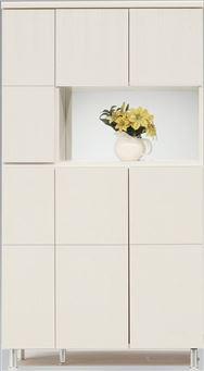 シューズボックス 幅99cm ハイタイプ ホワイト