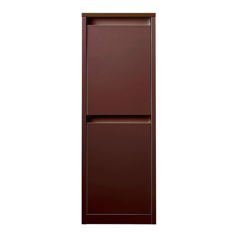 分別ダストボックス YY−WSB−32縦2分別 BN:お部屋に馴染む、暖かみのある木目調の仕上がりです。