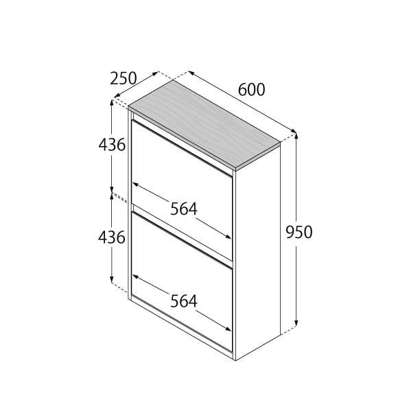 分別ダストボックス YY−WSB−60 4分別 WH