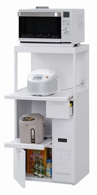 レンジ台 ファインキッチン SK−306W:◆外観はスッキリと飽きのこないシンプルなデザイン