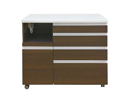 カウンターWH−120W Cカカオチェリー:《人気のハイカウンターに、お部屋の間仕切りにも便利なワゴンタイプ》