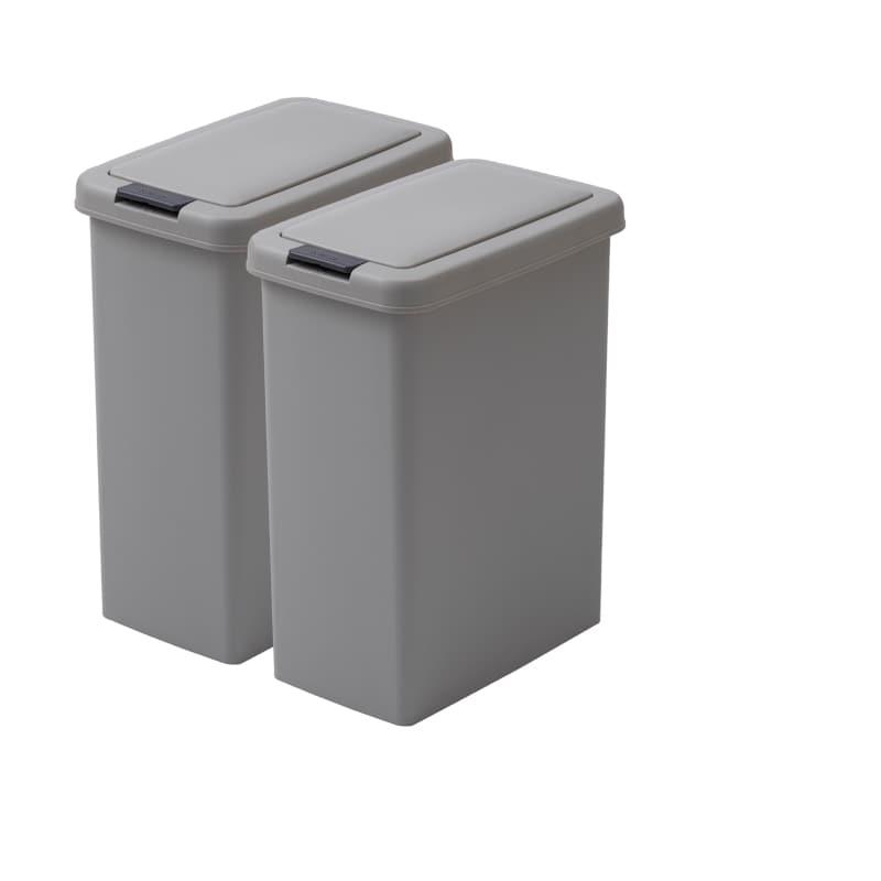 ダストボックス XA−26−2(26.5L×2個) グレー:【パモウナ用 食器棚用オプション品】