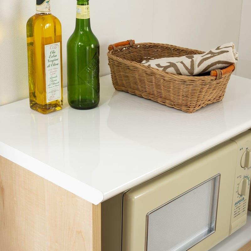 レンジ台 マテリア 70A ミニ食器棚/幅70cm(WH):お手入れ簡単メラミン天板