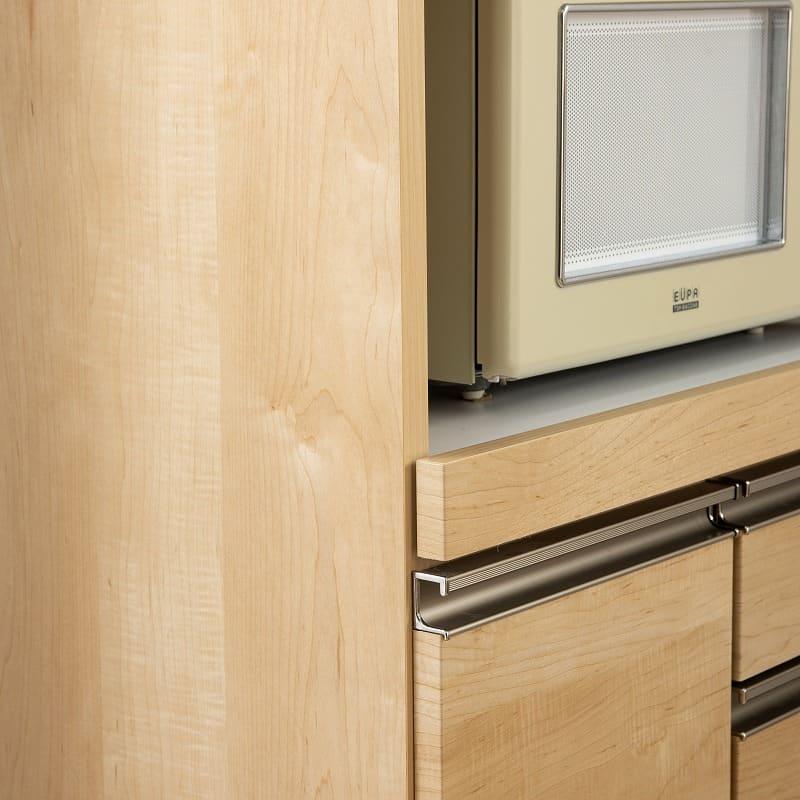 レンジ台 マテリア 70A ミニ食器棚/幅70cm(WH):側面シートも優れた強度のクリーンイーゴス