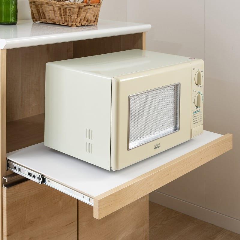 カウンター マテリア 120OP ハイカウンター/幅120cm(WH):家電収納はスライドします