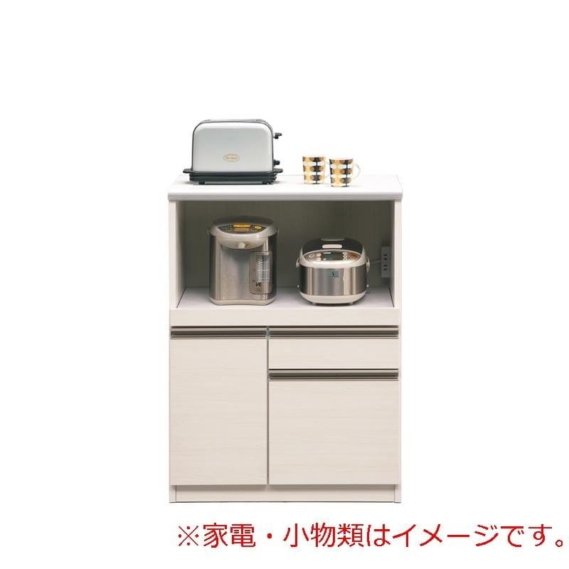 レンジ台 マテリア�U 70B オープン/幅70cm(WH木目):◆使いやすい高さ97�pのコンパクトカウンター