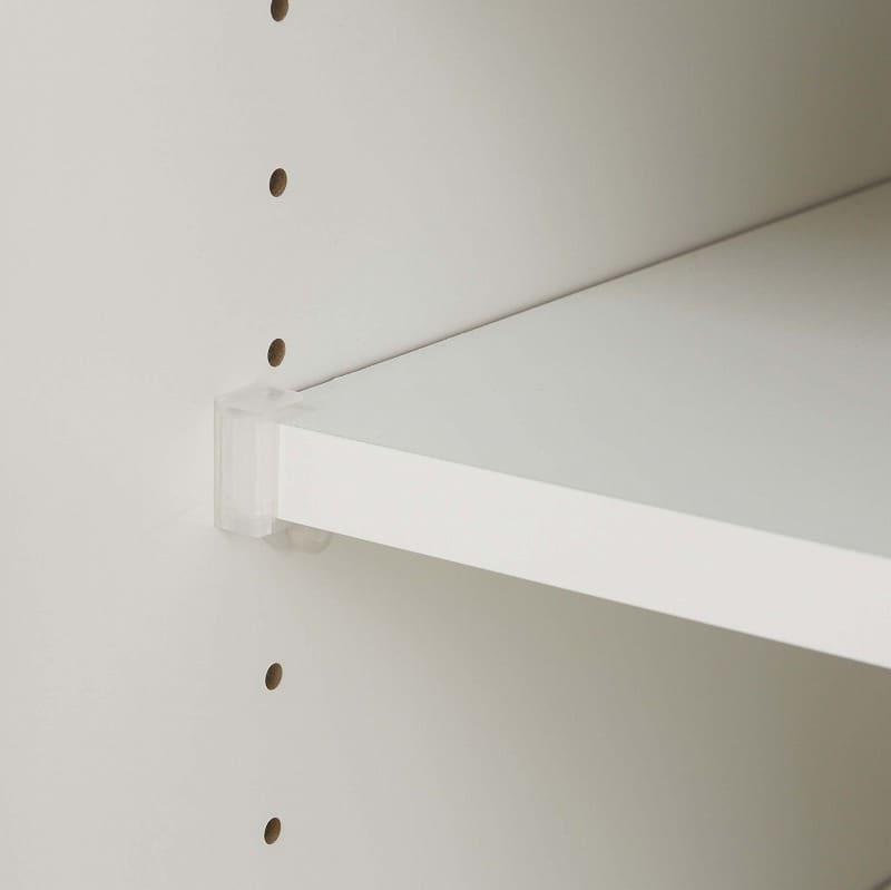 カウンター天板リンク 160K 天板ホワイト:落下防止ダボ