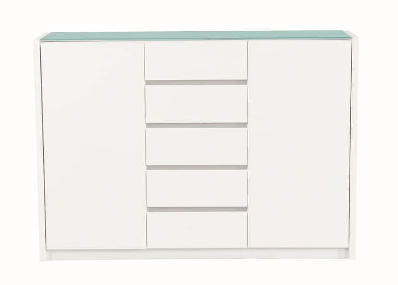 カウンター バール 502 ホワイト:◆天板には強化ガラス天板を使用し、塗装も光沢があります