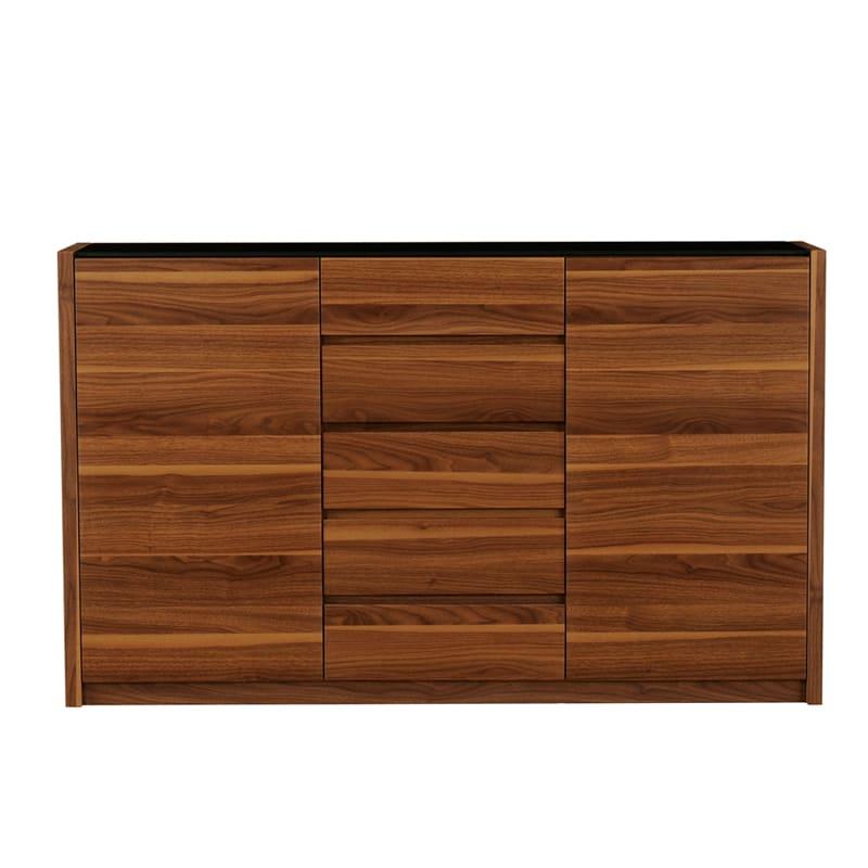 カウンター バール 502 ウォールナット:◆天板には強化ガラス天板を使用し、塗装も光沢があります