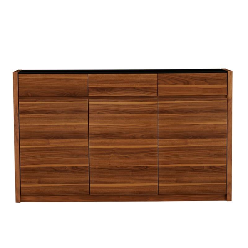 カウンター バール 303 ウォールナット:◆天板には強化ガラス天板を使用し、塗装も光沢があります