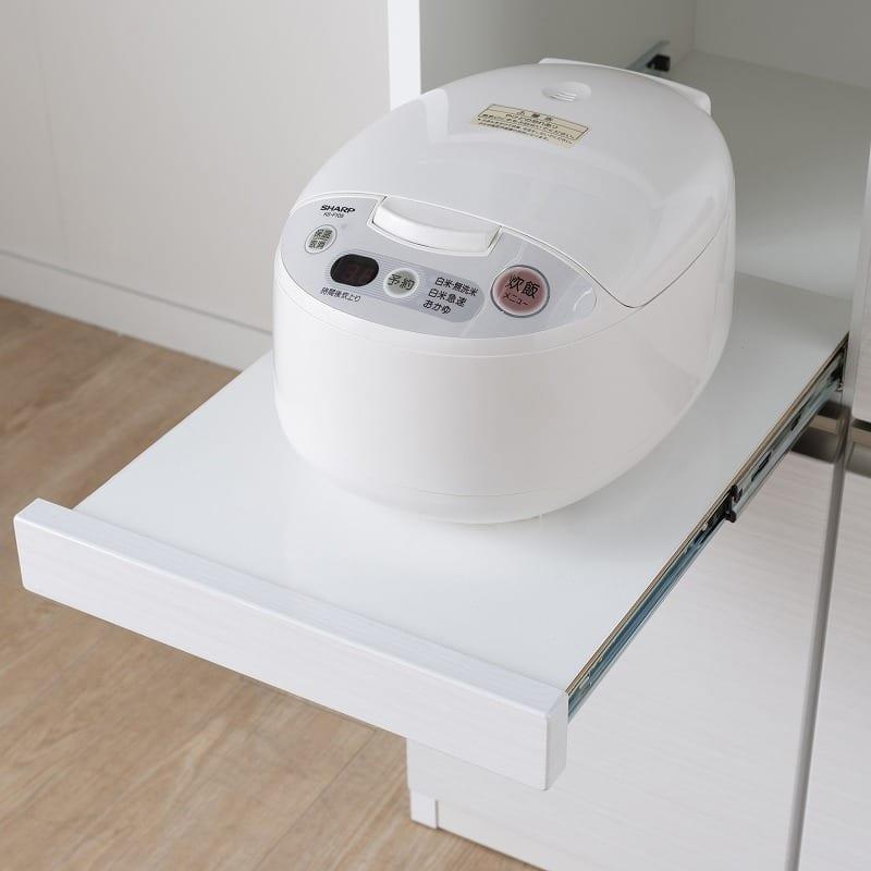 カウンター マルチェ(1400カウンター/基本色:ゼブラホワイト):家電収納