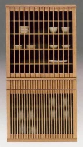 ダイニングボード 山水 90食器NA:《和のテイストの格子デザインを採用したダイニングボード「山水シリーズ」》