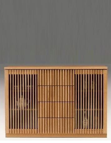 カウンター 山水 120サイドNA:《和のテイストの格子デザインを採用したダイニングボード「山水シリーズ」》