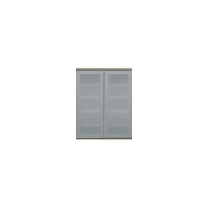 上台(ガラス扉/観音開き)SC−80K Wパールホワイト:《お客様の理想が詰まった食器棚「SCシリーズ」》