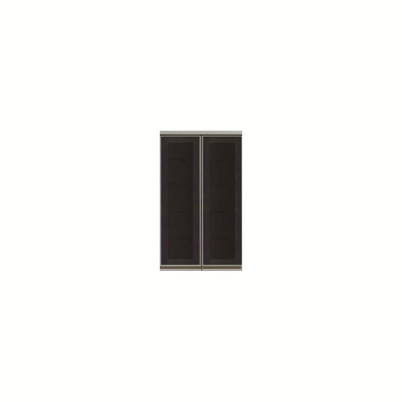 上台(ガラス扉/観音開き)SC−60K Bブラックグレイン:《お客様の理想が詰まった食器棚「SCシリーズ」》