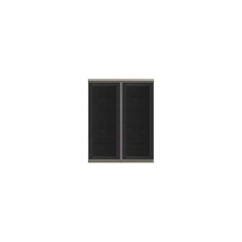 上台(ガラス扉/観音開き)SC−80K Bブラックグレイン:《お客様の理想が詰まった食器棚「SCシリーズ」》