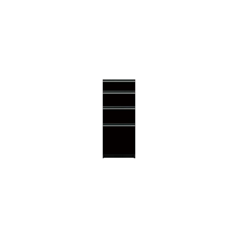 下台(4段引出)SC−40 Bブラックグレイン:《お客様の理想が詰まった食器棚「SCシリーズ」》