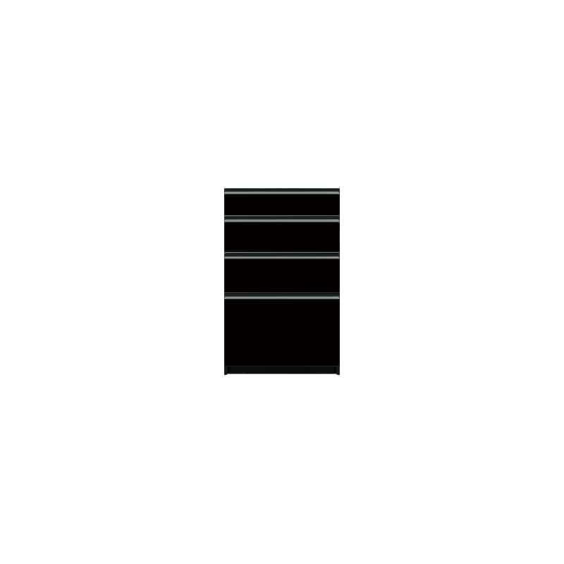 下台(4段引出)SC−60 Bブラックグレイン:《お客様の理想が詰まった食器棚「SCシリーズ」》