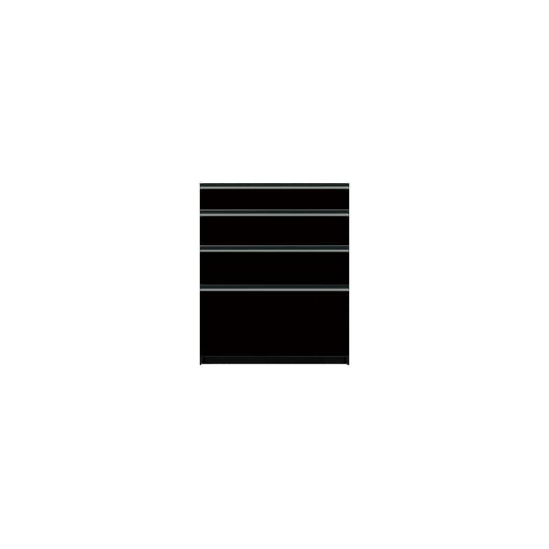 下台(4段引出)SC−80 Bブラックグレイン:《お客様の理想が詰まった食器棚「SCシリーズ」》