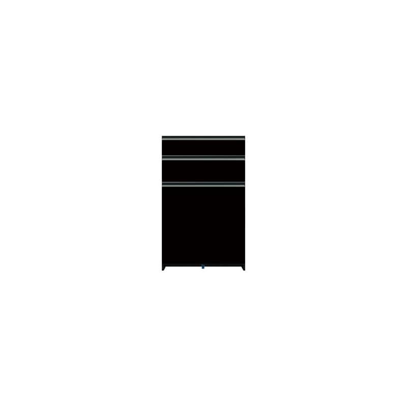 下台(3段引出)SC−63 Bブラックグレイン:《お客様の理想が詰まった食器棚「SCシリーズ」》