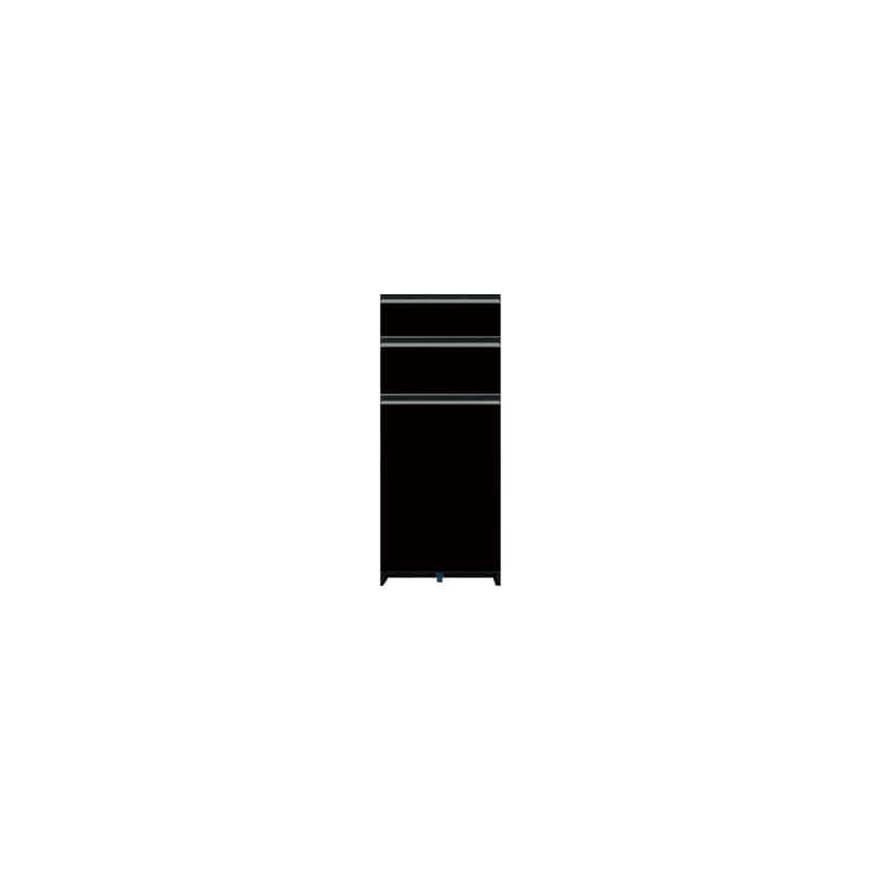 下台(3段引出)SC−S43 Bブラックグレイン:《お客様の理想が詰まった食器棚「SCシリーズ」》