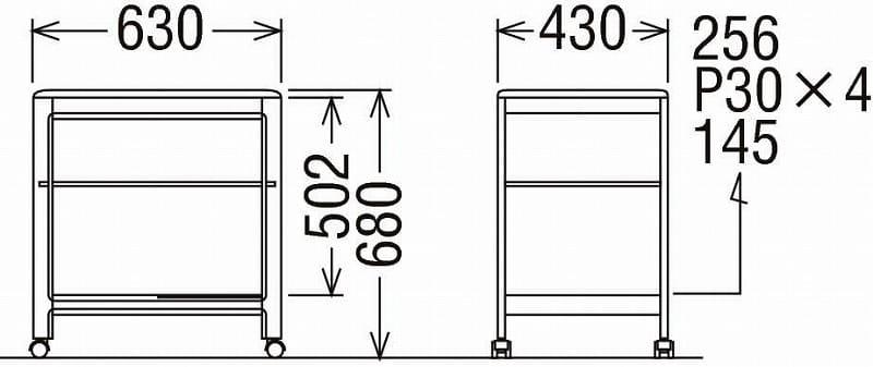 ワゴン シュールワゴン AS6116MH