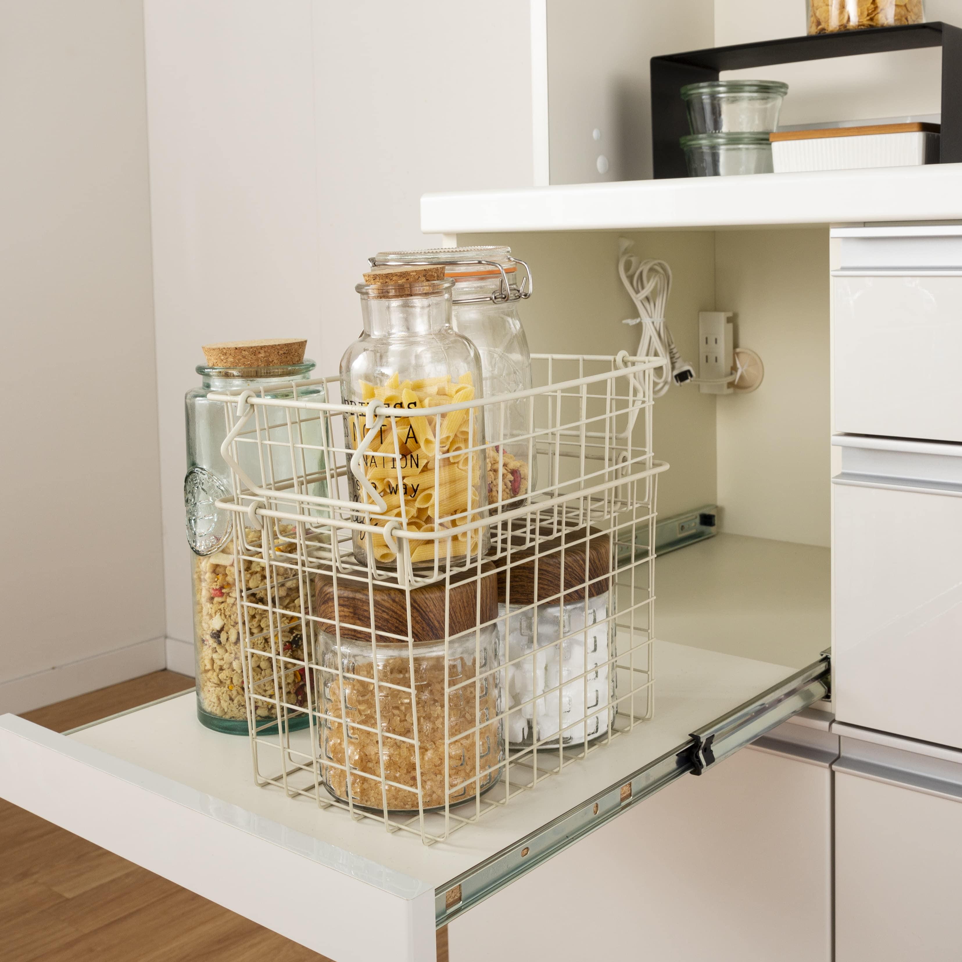 :家電収納に便利なスライド棚