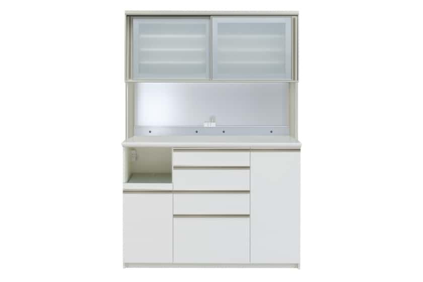 ダイニングボード プレーミエ QG-1400R Wパールホワイト:食器棚業界で人気の高い「パモウナ」