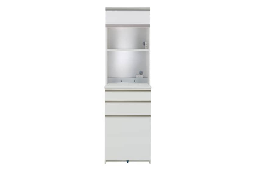 ダイニングボード プレーミエ QG-670R 家電収納 Wパールホワイト:食器棚業界で人気の高い「パモウナ」