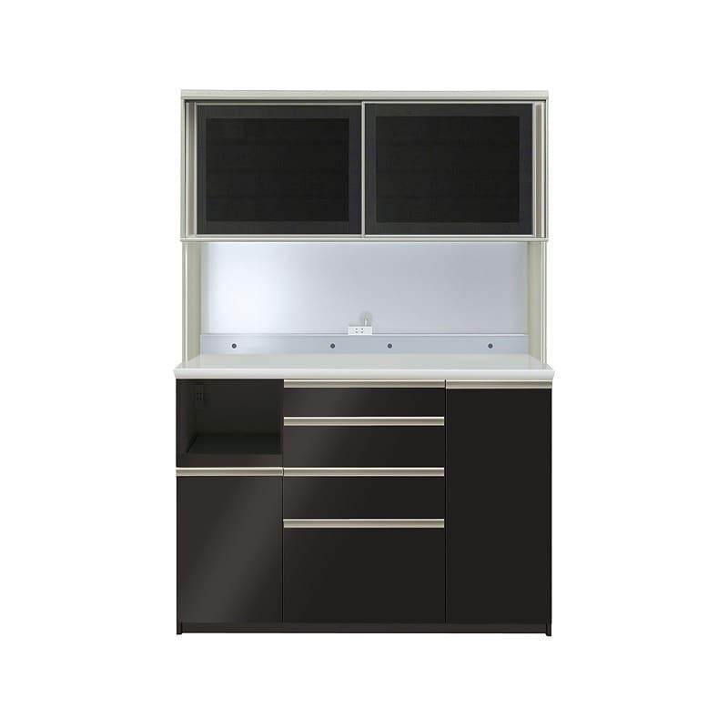 ダイニングボード プレーミエ QG−1400R Bブラックグレイン:食器棚業界で人気の高い「パモウナ」