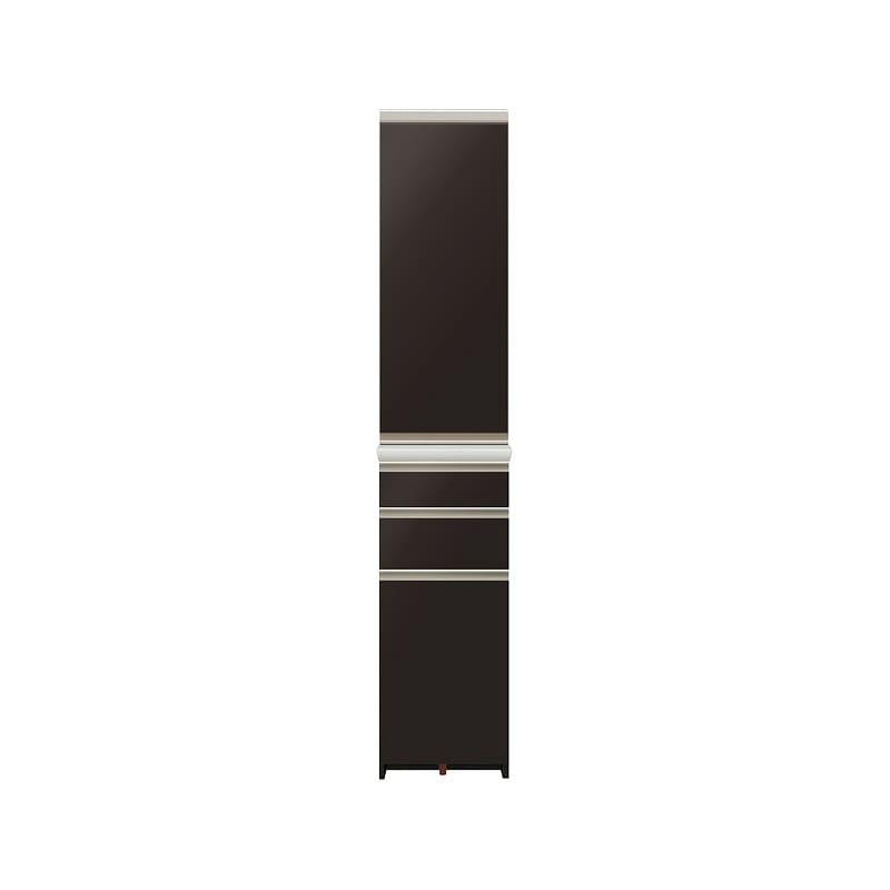 ダイニングボード プレーミエ (ストッカー/左開き)QG−401KL Bブラックグレイン:食器棚業界で人気の高い「パモウナ」